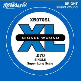 Отдельная струна для бас-гитары D'Addario XB070SL Nickel Wound никелированная, .070, Super Long   45