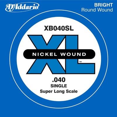 Отдельная струна для бас-гитары D'Addario XB040SL Nickel Wound никелированная, .040, Super Long   45