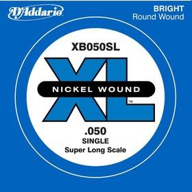 Отдельная струна для бас-гитары D'Addario XB050SL Nickel Wound никелированная, .050, Super Long   45