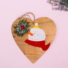 Новогодняя подвеска «Хвойный снеговик»