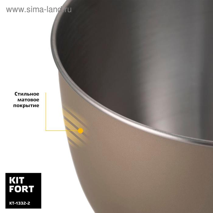 Миксер Kitfort КТ-1332-2, планетарный, 1000 Вт, 4.5 л, 4 в 1, цвет бронза