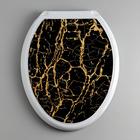 """Сиденье для унитаза """"Декор. Чёрный мрамор"""", цвет чёрный"""