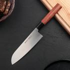 Нож кухонный сантоку Samura Okinawa, лезвие 17,5 см, сталь AUS-8, рукоять из палисандра