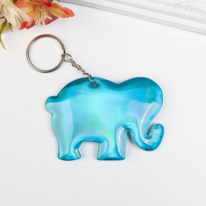 Брелок кожзам, ткань Слонёнок МИКС 9х6,3 см