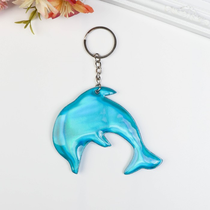 Брелок кожзам, ткань Дельфин МИКС 8х9,5 см