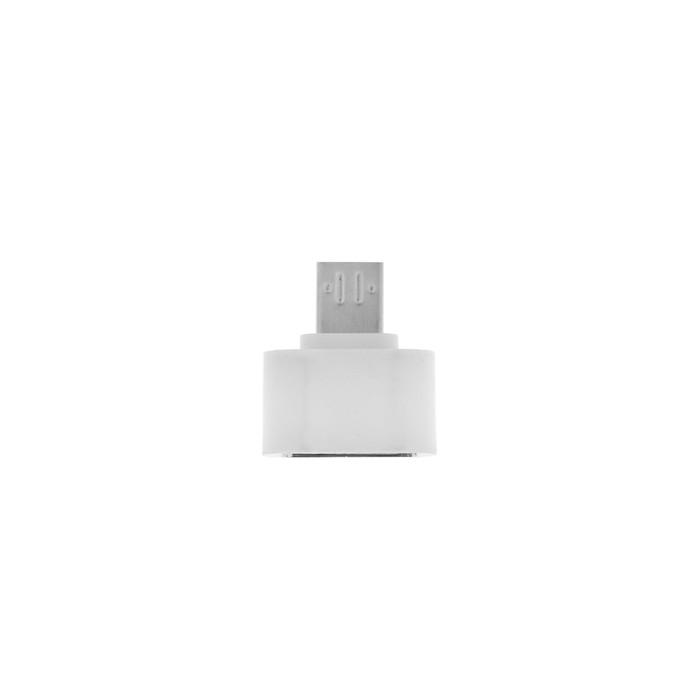 OTG адаптер LuazON, microUSB - USB, цвет белый