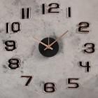 """Часы-наклейка DIY """"Данбери"""", золотистые, 60 см, плавный ход (+механизм)"""