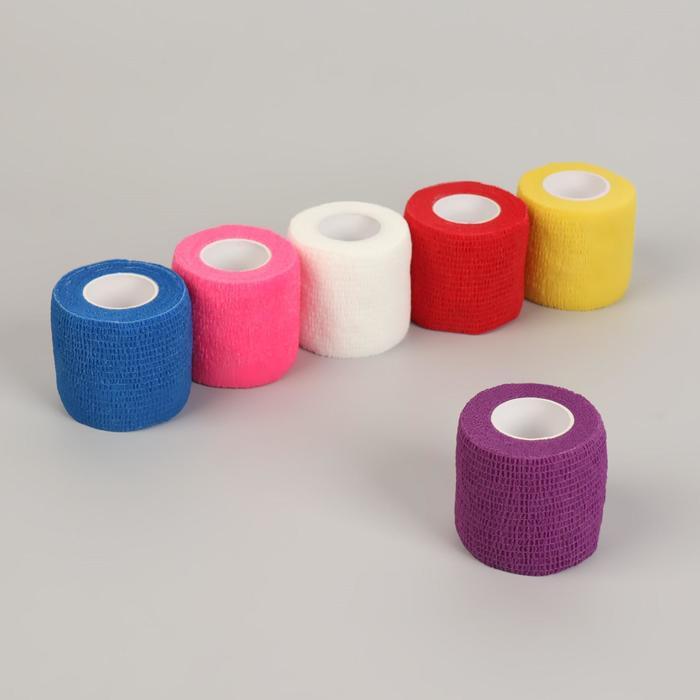 Лента-бандаж защитная, для пальцев, 5 см × 4,5 м, цвет МИКС