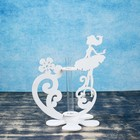 """Кашпо деревянное 13.5×13×22 см с 1 колбой """"Балерина"""", белый Дарим Красиво - Фото 2"""