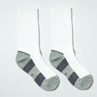 Носки детские с махровым следом, цвет белый/серый, р-р 20-22