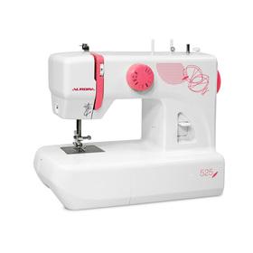 Швейная машина Aurora 525, 70 Вт, 13 операций, полуавтомат, бело-розовая Ош
