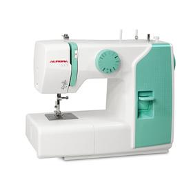 Швейная машина Aurora 615, 70 Вт, 13 операций, полуавтомат, бело-зелёная Ош