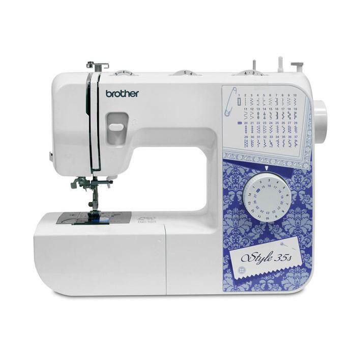 Швейная машина Brother Style 35s, 50 Вт, 37 операций, автомат, бело-фиолетовая