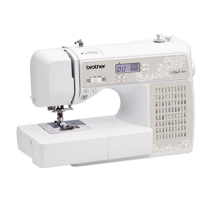 Швейная машина Brother Style 80e, 60 Вт, 80 операций, автомат, бело-бежевая