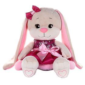 Мягкая игрушка «Зайка Lin» в розовом платье с пайетками и мехом, 20 см