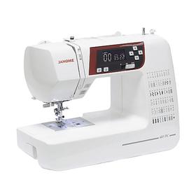 Швейная машина Janome DC 603, 35 Вт, 60 операций, автомат, дисплей, бело-красная