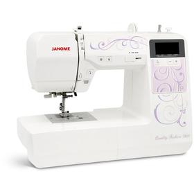 Швейная машина Janome QF 7900, 35 Вт, 100 операций, автомат, дисплей, бело-розовая