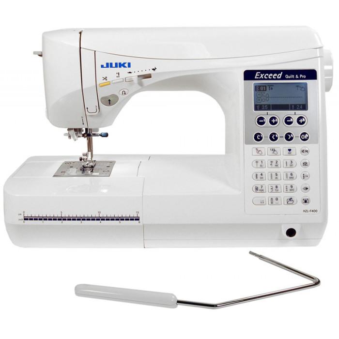 Швейная машина Juki HZL F400, 65 Вт, 391 операция, автомат, дисплей, белая