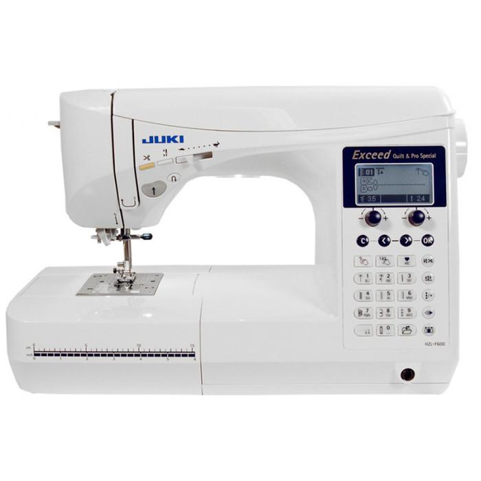 Швейная машина Juki HZL F600, 65 Вт, 535 операций, автомат, дисплей, белая