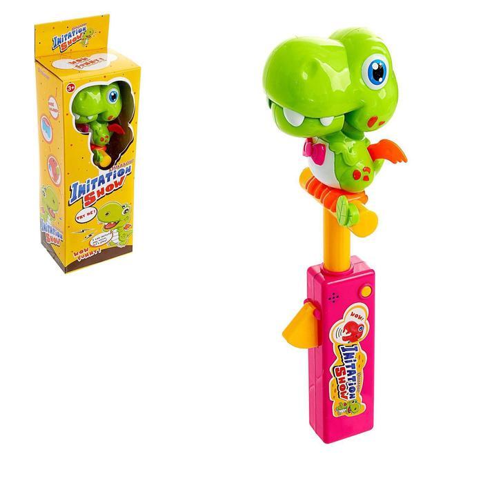 Говорящая игрушка Динозаврик-повторюша, с функцией записи голоса, МИКС