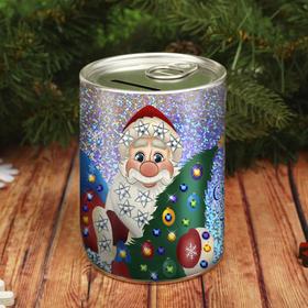 Набор для творчества. Копилка для декорирования стразами «Сказочного Нового года» Дед Мороз Ош