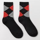 Носки мужские махровые, цвет чёрный, размер 27-29