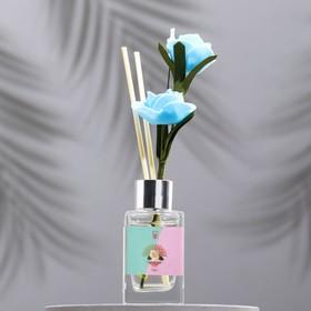 """Диффузор 50 мл, """"Классика"""", роза, 2 палочки+цветок"""