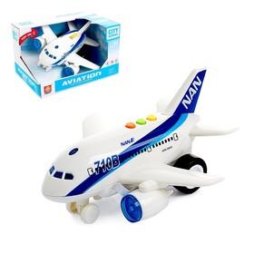 Самолёт инерционный «Пассажирский», свет и звук