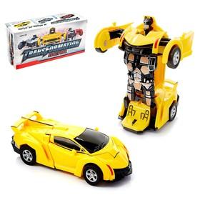 Робот-трансформер инерционный «Спорткар», трансформируется автоматически, цвета МИКС Ош