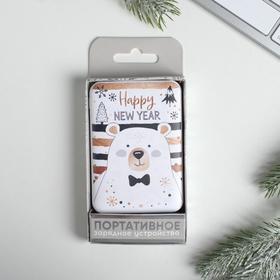 Портативный аккумулятор 'Happy new year', 5000 mAh, 9 х 6,3 см Ош