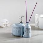 """Дозатор для моющего средства """"Роуз"""", с отверстием для аромапалочек, цвет голубой"""