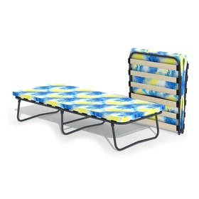 Кровать-тумба «Здоровье» с матрасом, ламели, 1950 × 800 × 420 мм, цвет МИКС
