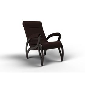 Кресло для отдыха «Зельден», 910 × 580 × 1000 мм, ткань, цвет шоколад