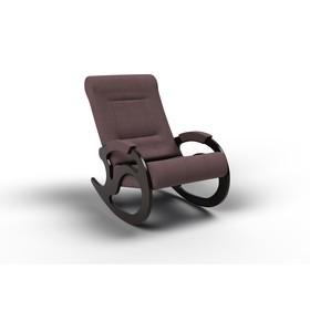Кресло-качалка «Вилла», 1040 × 640 × 900 мм, ткань, цвет кофе с молоком