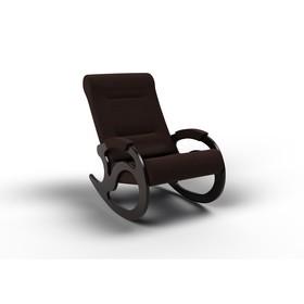 Кресло-качалка «Вилла», 1040 × 640 × 900 мм, ткань, цвет шоколад