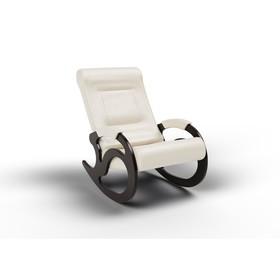 Кресло-качалка «Вилла», 1040 × 640 × 900 мм, экокожа, цвет крем