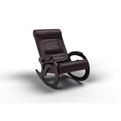 Кресло-качалка «Вилла», 1040 × 640 × 900 мм, экокожа, цвет венге - Фото 1