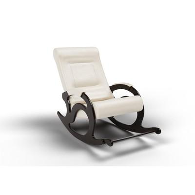 Кресло-качалка «Тироль», 1320 × 640 × 900 мм, экокожа, цвет крем - Фото 1