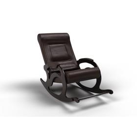 Кресло-качалка «Тироль», 1320 × 640 × 900 мм, экокожа, цвет венге