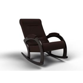 Кресло-качалка «Венето», 1112 × 630 × 880 мм, ткань, цвет шоколад