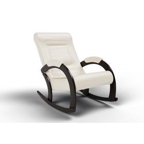 Кресло-качалка «Венето», 1112 × 630 × 880 мм, экокожа, цвет крем