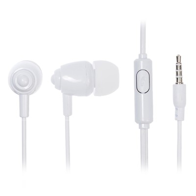 Наушники Krutoff HF-P1, вакуумные, микрофон, 106 дБ, 16 Ом, 3.5 мм, 1 м, белые - Фото 1