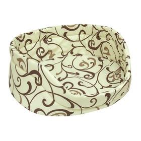 Лежанка 'Зооник' малая 36 х 32 х 15 см, бязь, расцветка Орнамент, микс Ош