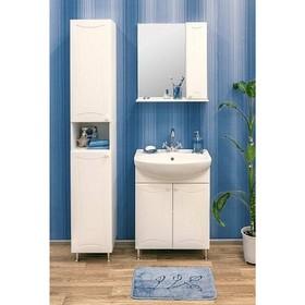 Набор мебели Карина 55 правый: тумба с раковиной + шкаф зеркало Ош