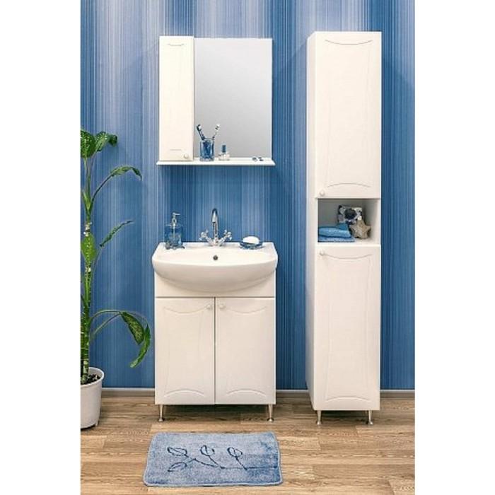 Набор мебели Карина 55 левый тумба с раковиной  шкаф зеркало