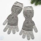 Перчатки женские арт 209 цвет светло серый , р-р 18