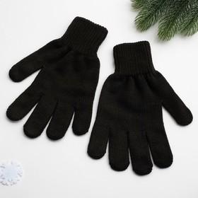 Перчатки мужские арт 102 цвет черный, р-р 22 Ош