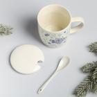 Набор подарочный «С Рождеством Христовым!», 3 предмета: кружка, ложка, крышка - Фото 5