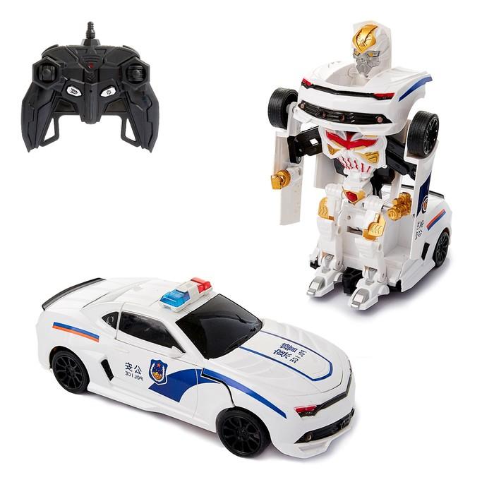 Робот-трансформер радиоуправляемый «Полицейский», работает от аккумулятора