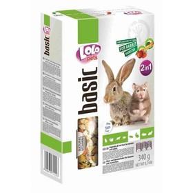 Корм LoLo Pets для хомяков и кроликов, овоще-фруктовый, 340 г